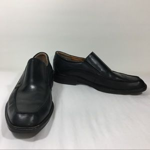 Ecco Black Leather Slip On Dress Shoes